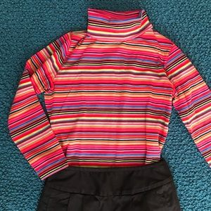 Liz Claiborne Festive Striped Turtleneck